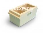 Plastic 2 Gang Cube Mould 100mm